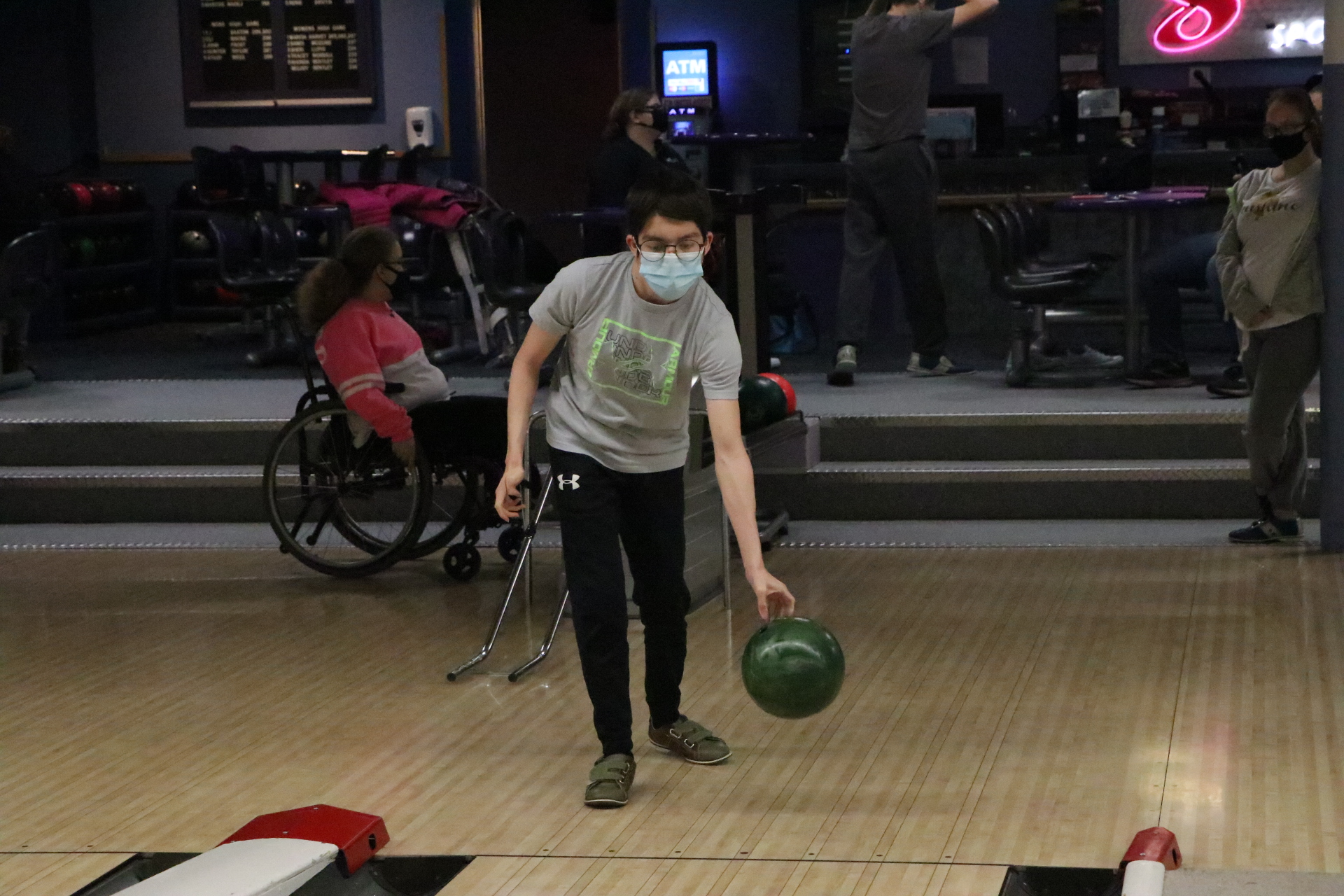 Michael Cadena competes for the Ralston unified bowling team. (Pam Castaneda-Martinez)