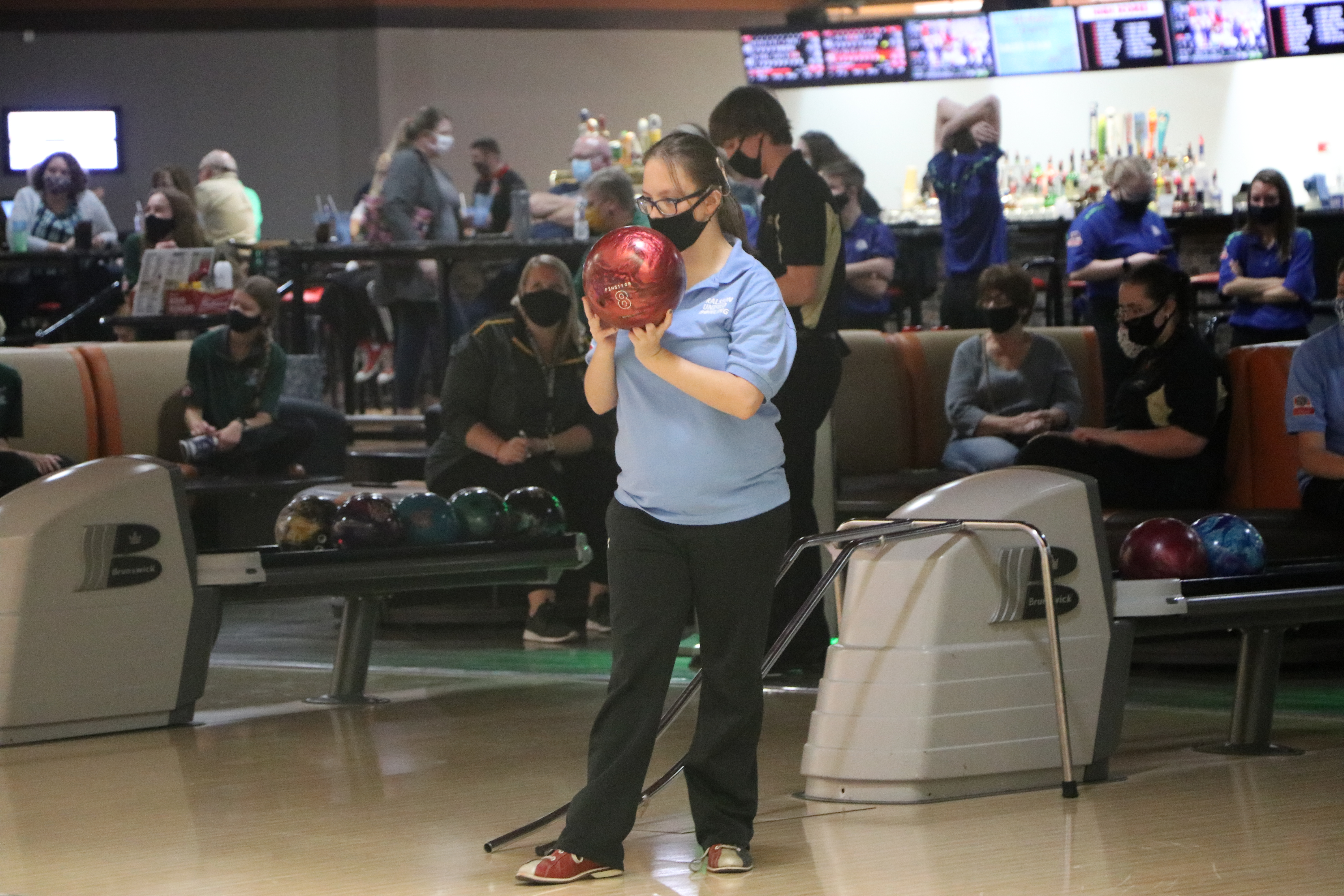 Brylee Johnson competes for the Ralston unified bowling team. (Pam Castaneda-Martinez)
