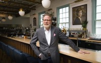 John Stephenson poses, Wednesday, Aug. 18, 2021, at the restaurant Hathorne which he owns, in Nashville, Tenn. Stephenson hosts other restaurants, known as pop-ups, which he lets use his space in an effort to help them weather the pandemic. (AP)